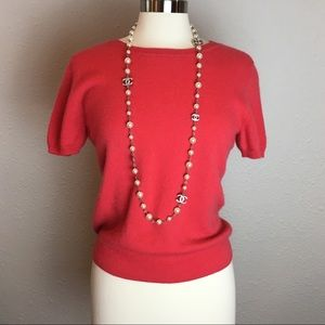 Gorgeous coral Cashmere Peck & Peck sweater